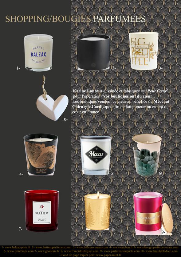 shopping bougies parfumées