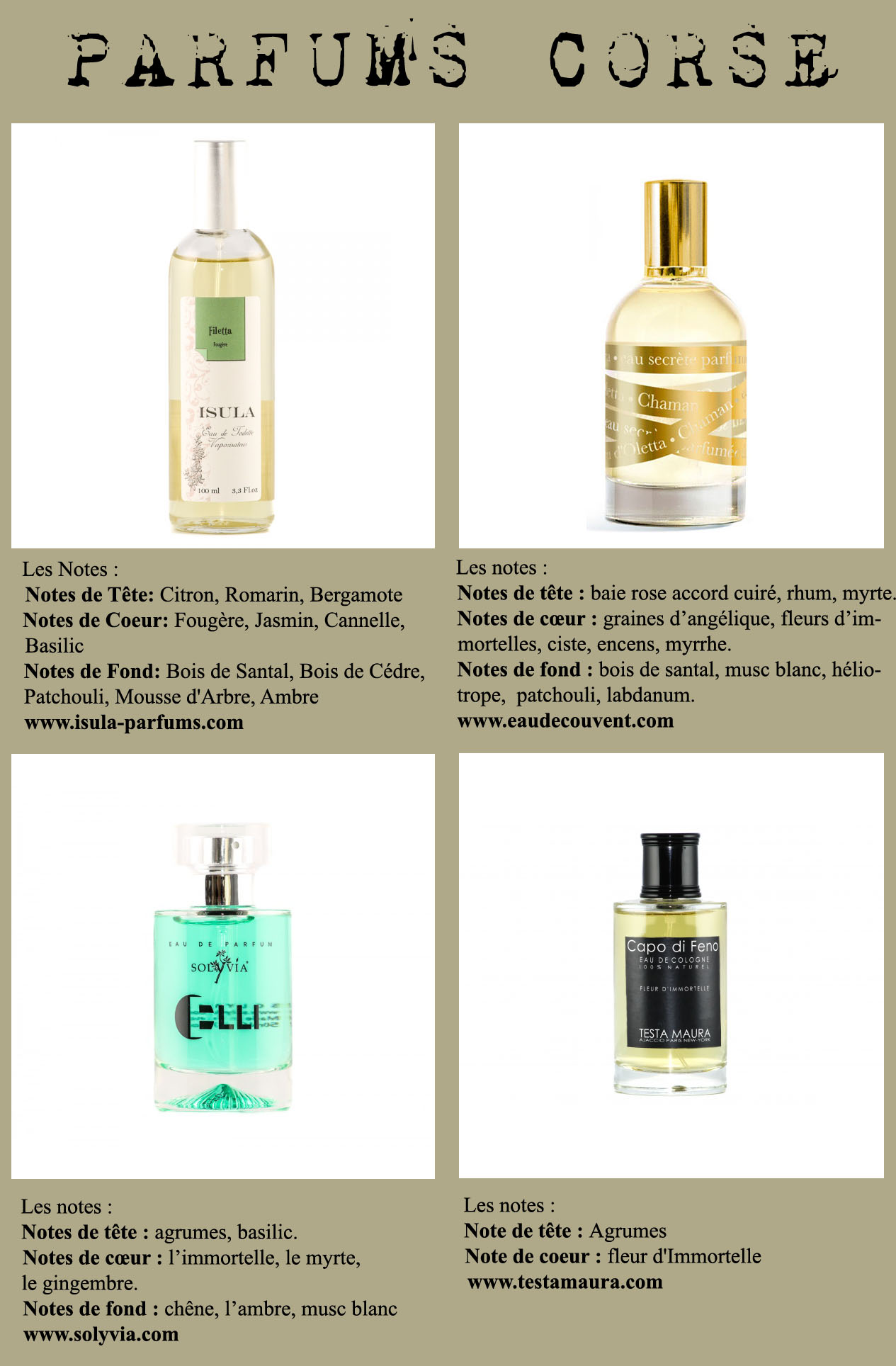 parfums corse