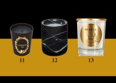 Cadeaux de Noël : de belles bougies...