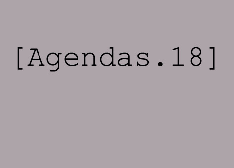 Spécial Agendas 2018