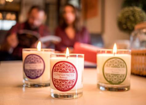 Les bougies «Confidences Provence»
